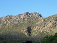 View of Montagu mountains